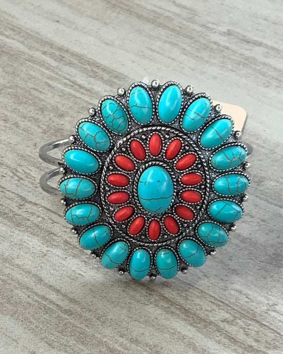 Cute Turquoise and Red Coral Bracelet