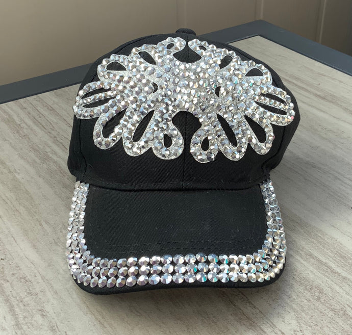Super Bling Black Ball Cap