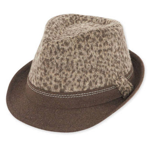 Adjustable Brown Leopard Fedora