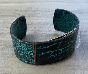 Turquoise and Bronze Cuff Bracelet