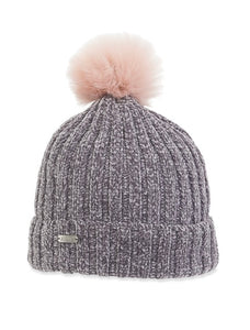 Super Cute Grey Beanie with Pom on Top