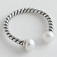Load image into Gallery viewer, S925 Sterling Silver Ring Freshwater Pearl Ring