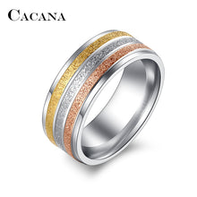 Load image into Gallery viewer, Stainless Steel Rings For Women Three Colors Lines