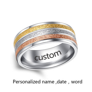 Stainless Steel Rings For Women Three Colors Lines