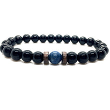Load image into Gallery viewer, Men Bracelet Natural Moonstone Bead Lava Stone