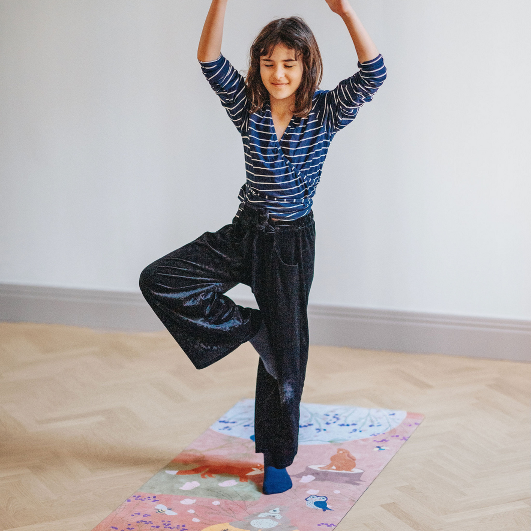 Kids Yoga Mat by Karin Lundström Design: Red Forest