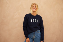 Load image into Gallery viewer, Yogi embroidered sweatshirt Navy Blue // White