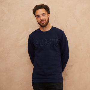 Namaste embroidered sweatshirt Navy Blue // Navy Blue