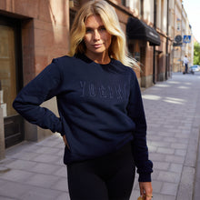 Load image into Gallery viewer, Yogini embroidered sweatshirt Navy Blue // Navy Blue