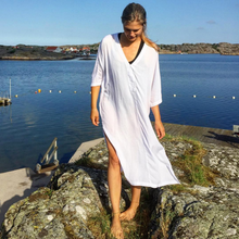 Load image into Gallery viewer, White Nomade Kaftan