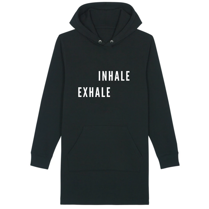 Inhale Exhale Hoodie dress