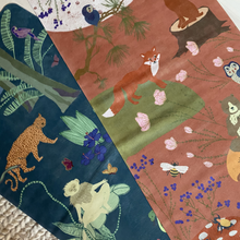 Load image into Gallery viewer, Kids Yoga Mat by Karin Lundström Design: Green Forest