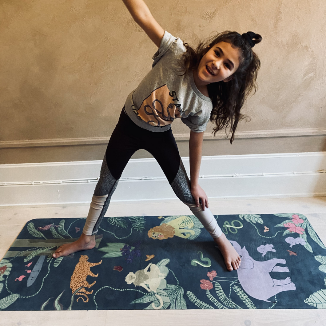 Kids Yoga Mat by Karin Lundström Design: Green Forest