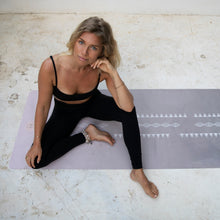 Load image into Gallery viewer, Travel yoga mat: Wanderlust Pink Sand