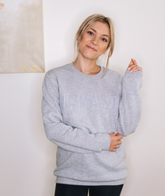 Load image into Gallery viewer, Namaste embroidered sweatshirt Grey // Grey