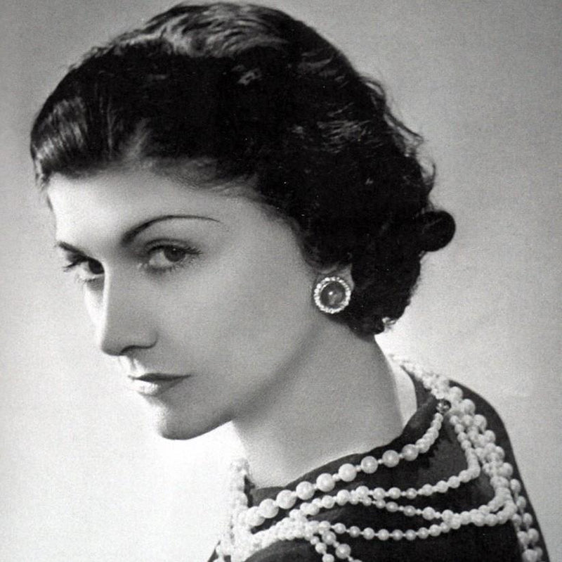 Black and White photo of Coco Chanel