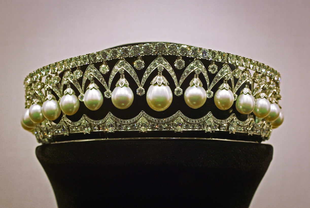 'The Russian Beauty', Romanov diadem made up of diamonds and pearls