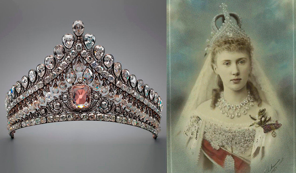 Maria Feodorovna of Russia: diadem made from pink and white diamonds