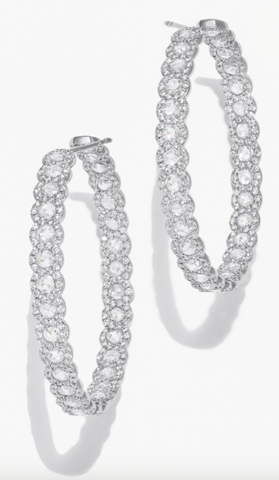 64facets diamond hoop earrings