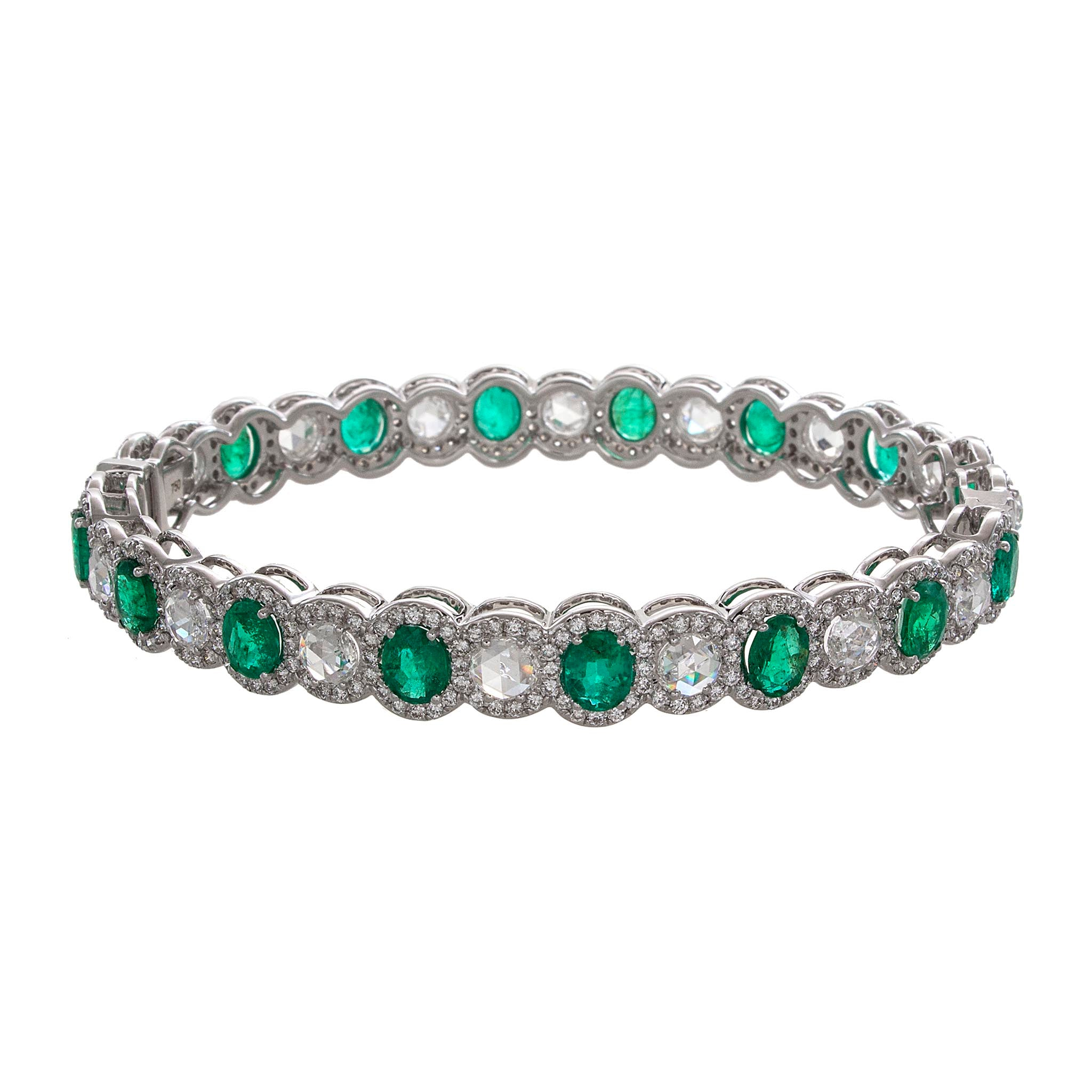 64Facets Bespoke Emerald and Diamond Bracelet creation