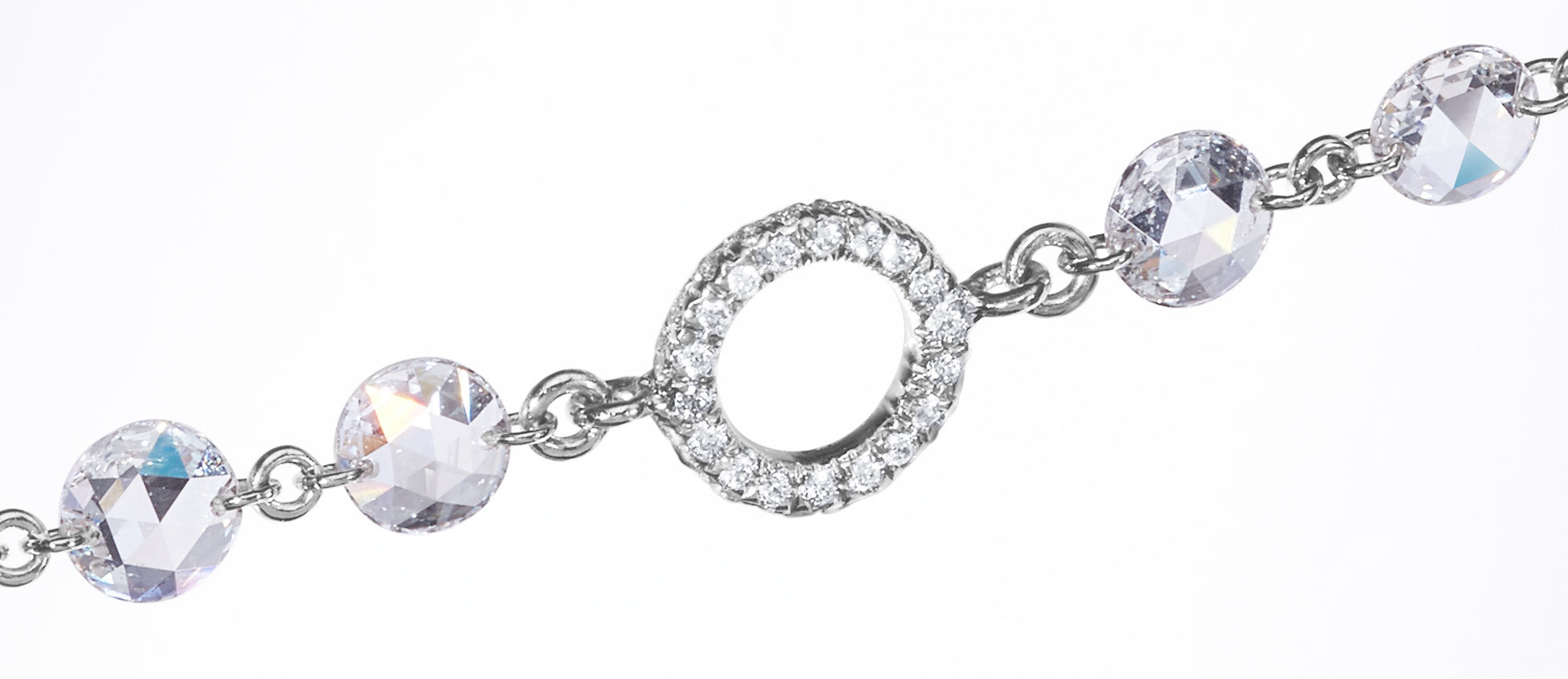 Pave jump ring on 64Facets Ethereal Diamond Chain Necklace
