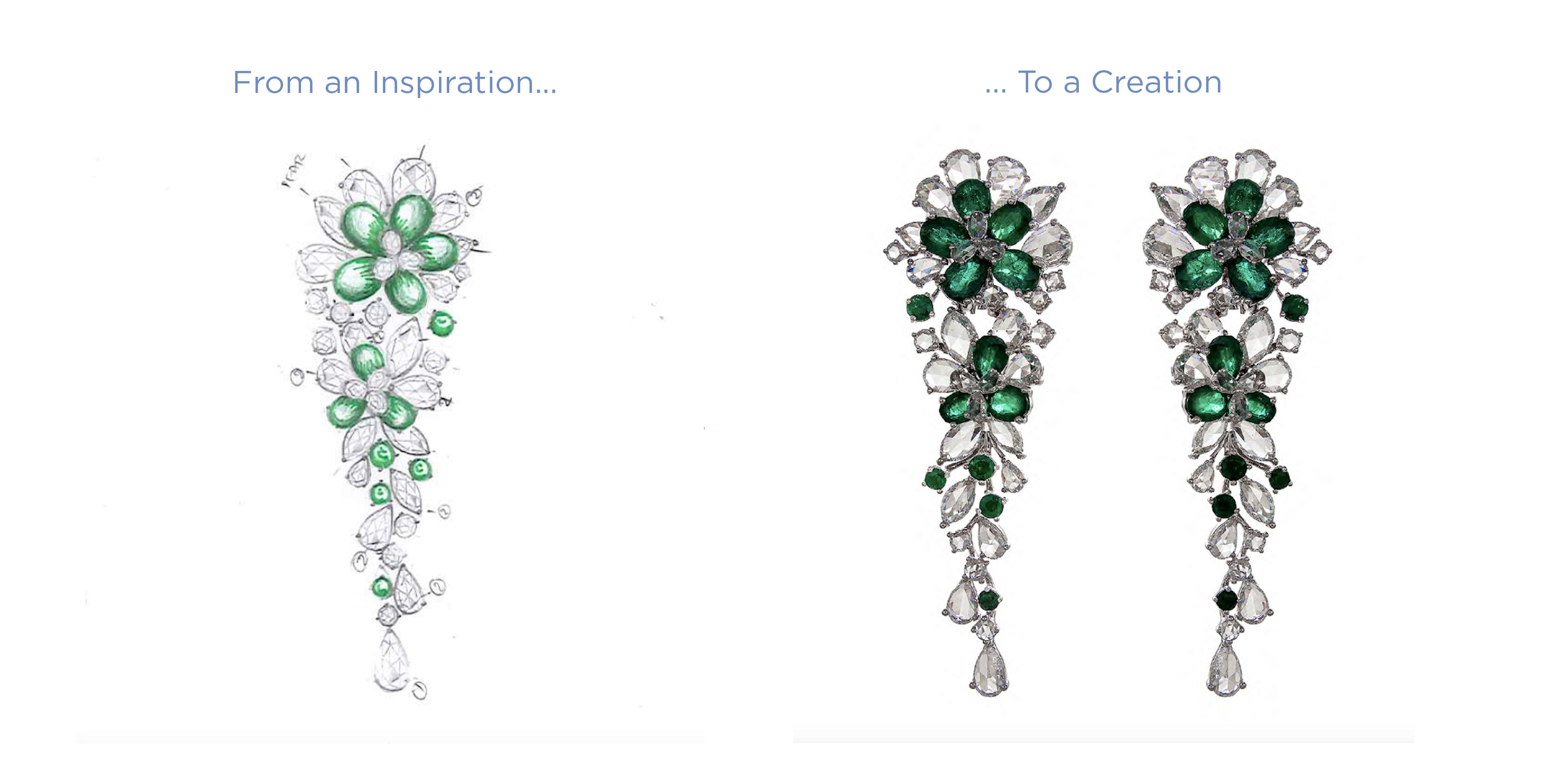 64Facets Fine Diamond and gemstone Jewelry Bespoke Creation Process