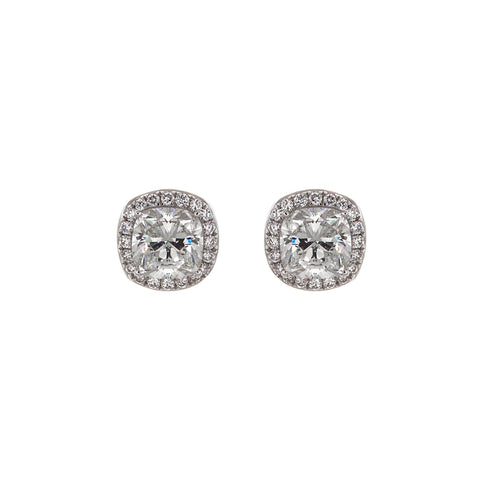 Cushion shaped diamond stud earrings by 64Facets worn by Kerry Washington