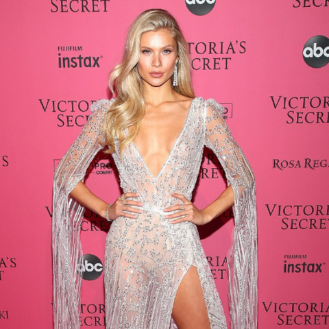 Josie Canseco at Victoria Secret Fashion Show Wearing 64Facets Diamond Earrings