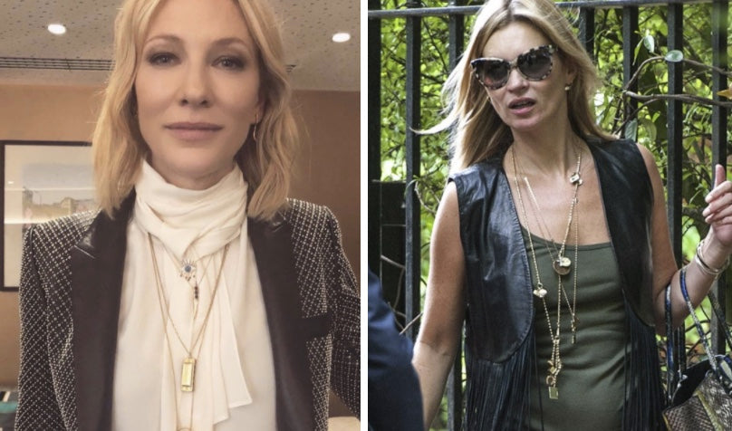 Kate Moss wearing chains