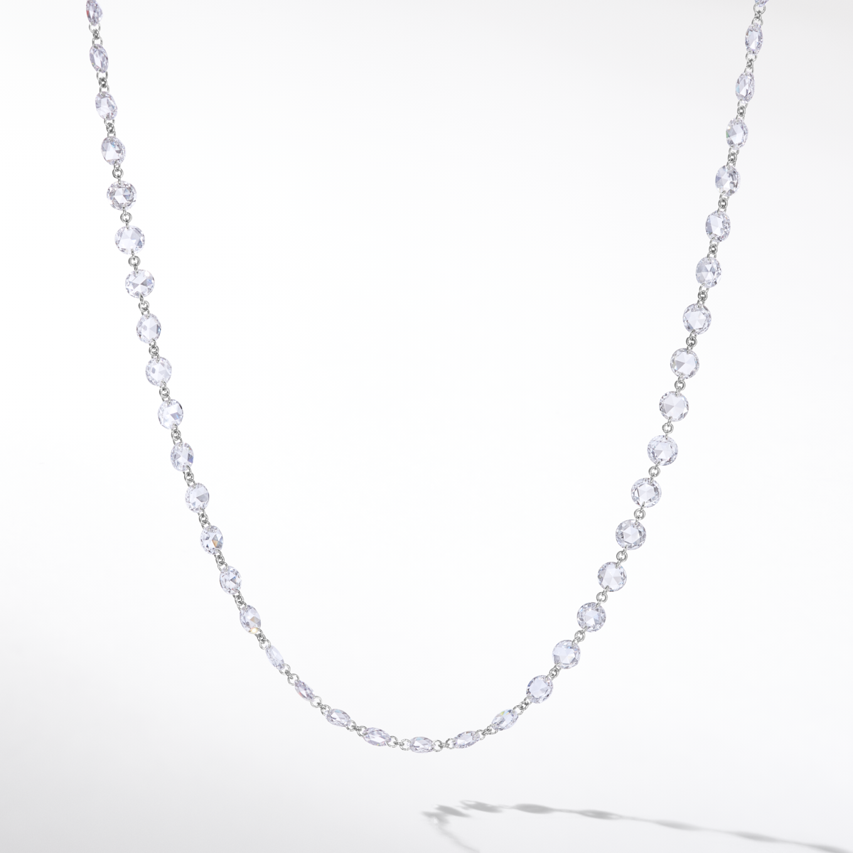 64Facets Ethereal Diamond Chain Necklace in Platinum 950