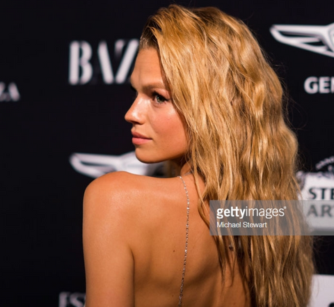 Nadine Leopold is dripping in 64Facets diamonds while attending the Harper's Bazaar icons Party at the Plaza Hotel on September 7, 2018 in New York City.