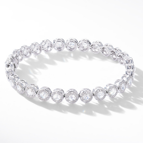 Diamond tennis bracelet by 64Facets
