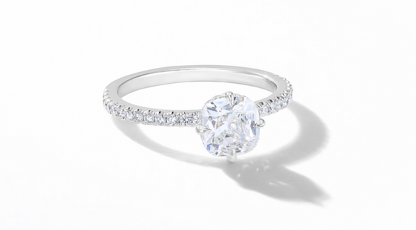 pave set engagement ring by 64Facets