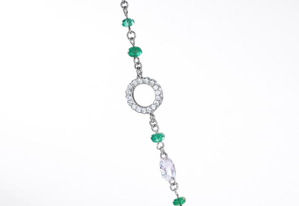Elements Emerald Bead Necklace