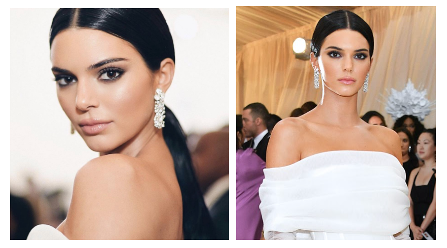Kendall Jenner Floral Diamond Earrings