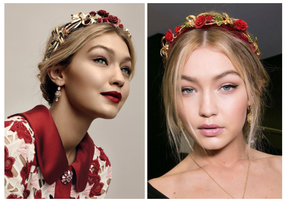 Gigi Hadid Dolce and Gabbana Rose Diadem