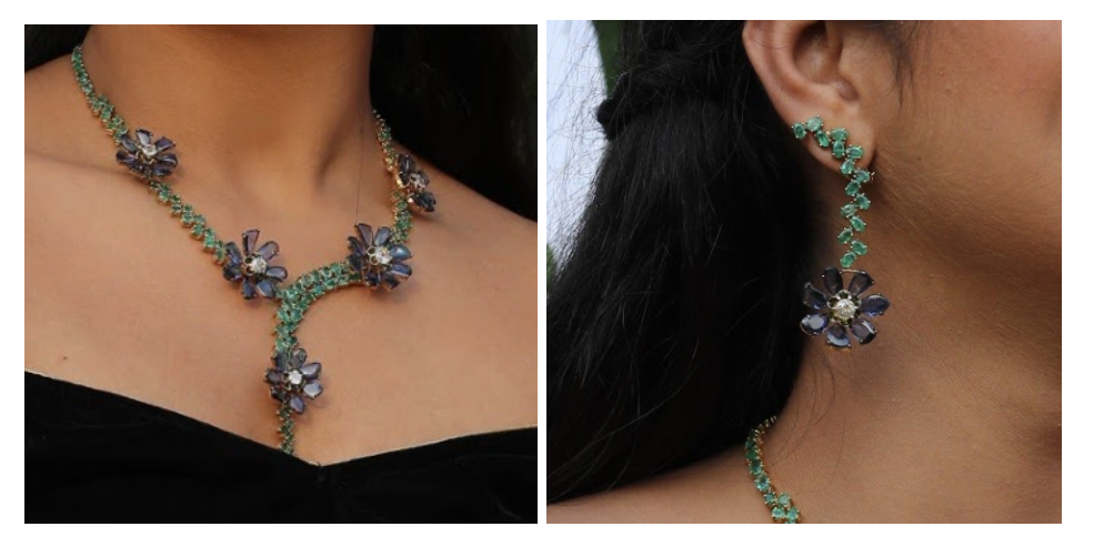 Limited Edition Floral Diamond Jewelry Set