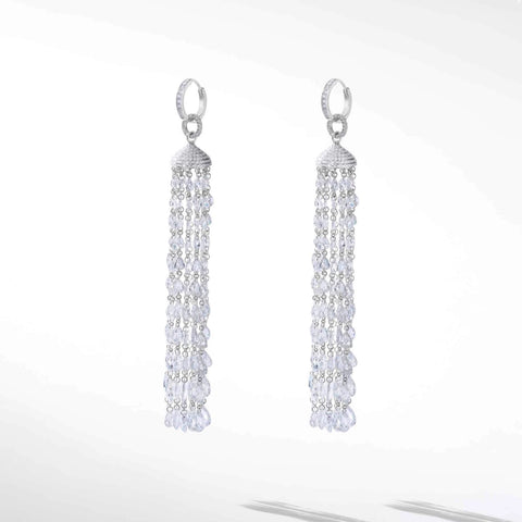 64Facets Diamond Tassel Earrings
