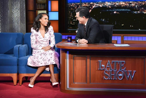 The Late Show with Stephen Colbert - Kerry Washington Wears 64Facets Diamond Stud Earrings