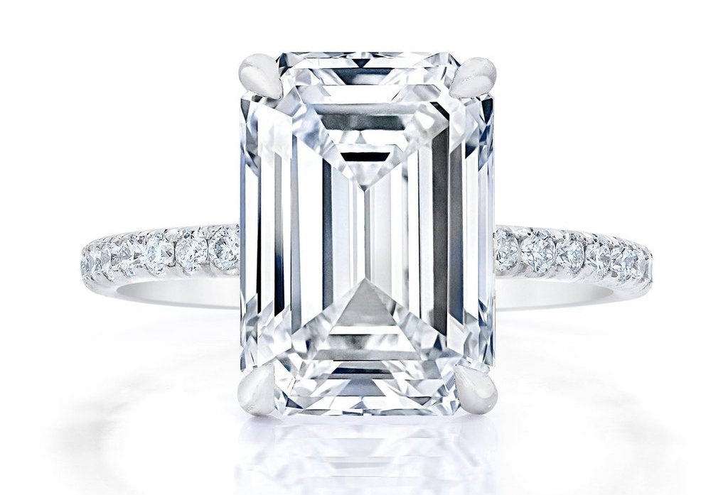 Emerald-Cut Diamond Engagement Ring from Ring Concierge