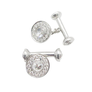 Diamond Cufflinks and Shirt Studs - Available in White, Rose and Yellow Gold