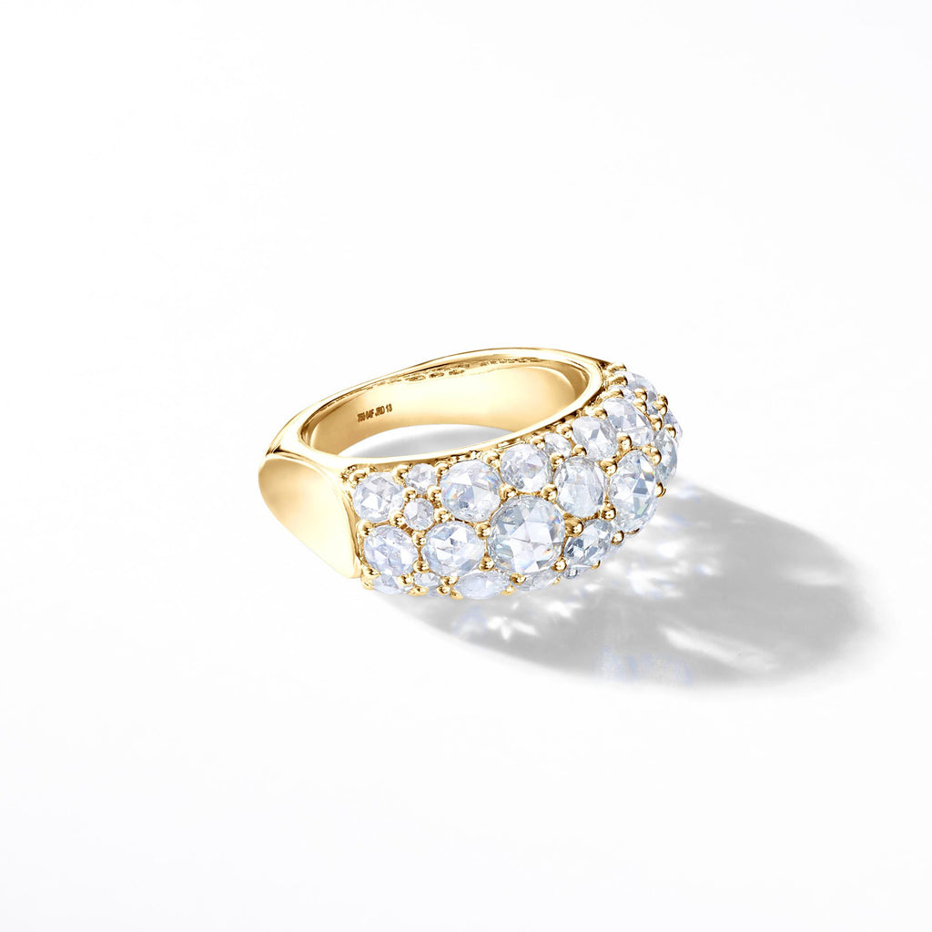 Eclat Diamond Cluster Ring. Cocktail Diamond Ring by 64Facets. Rose Cut Diamonds. Ethically Sourced. 18K Gold.