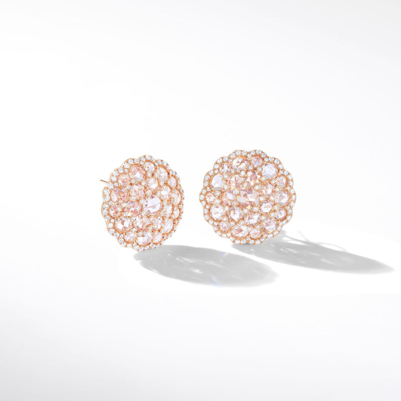Eclat Diamond Shield Stud Earrings. 64Facets fine diamond jewelry.