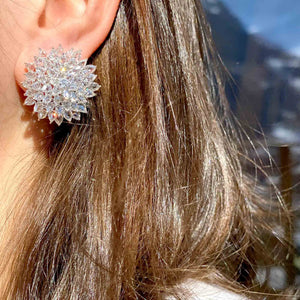 Rose Cut Diamond Spiked Stud Earrings from the Eclat Collection. 64Facets Fine Diamond Jewelry.