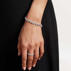 64Facets Diamond Tennis Bracelet