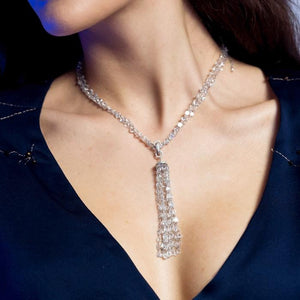 Ethereal Diamond Tassel Pendant for Necklaces
