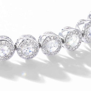 Scallop Diamond Tennis Bracelet (2.90 Carat) - Available in White, Rose and Yellow Gold