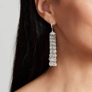 Ethereal diamond tassel earring