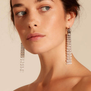 Ethereal Tassel Diamond Earrings (20-28 Carat) - Available in Two Lengths