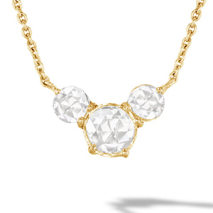 64Facets Rose Cut Diamond and Yellow Gold Chain
